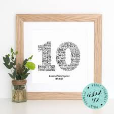 10 year wedding anniversary gifts for 55 year wedding anniversary gift ideas new 10th anniversary gift