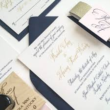 blush and gold wedding invitations meg morrow paper event stylinggold navy and blush wedding