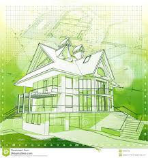 green architecture house plans house plans green background stock photography image 19361752
