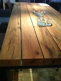 Moderner Esstisch Holz Stahl Esstisch Mit Eiche Balken Platte Gestell Stahl Massive Eiche