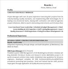 Project Manager Example Resume by Project Manager Resume U2013 9 Samples Examples Format