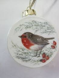 european robin glass ornaments painted
