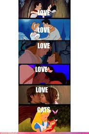 Disney Princess Memes - most disney girls get love alice gets a cat haha p wish i could
