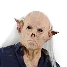 halloween skin mask latex full head neck scary monster men mask horror freak masks