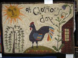 Chicken Rug Kris Miller From Spruce Ridge Studios A Few Rugs From Holland