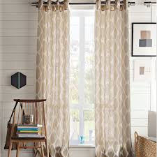Patterned Window Curtains Adorable White And Beige Curtains And Decorations Linen Patterned