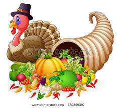 vector illustration thanksgiving horn plenty cornucopia stock