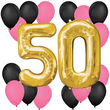 50th birthday balloon bouquets chic 50th birthday pink black and gold birthday balloon