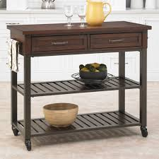 Home Styles Kitchen Islands Home Styles Cabin Creek 2 Drawer Open Shelf Kitchen Cart Hayneedle