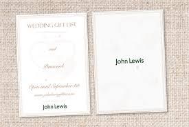 wedding gift list card for lewis wonderful lewis