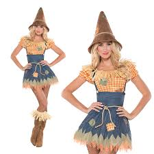 scarecrow halloween costume womens sultry scarecrow ladies new fancy dress