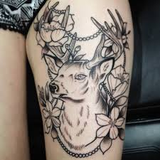 tattoo on leg for women 48 deer tattoos ideas for women