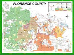 Detailed Map Of Michigan Florence County Recreation Guide U0026 Trail Maps