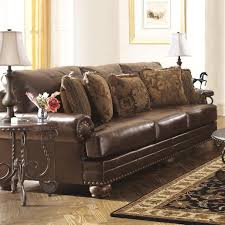 furniture window in corner ashley leather sofa set dining room