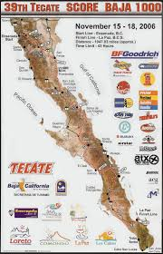 Tecate Mexico Map by 2006 Score Baja 1000 Index