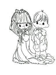 precious moments wedding coloring pages child 5101 precious