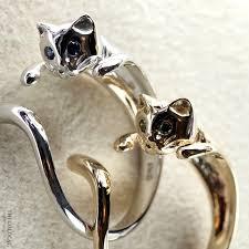 silver cat ring holder images Cat ring original thegoldcat jpg