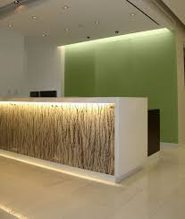 custom made reception desk hand made backlit reception desk with absolute white stone top by
