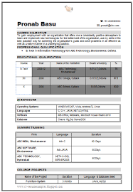 sle resume for freshers b tech mechanical free download b tech it resume sle for fresher 1 career pinterest cv