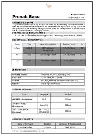 resume format for freshers engineers information technology b tech it resume sle for fresher 1 career pinterest cv