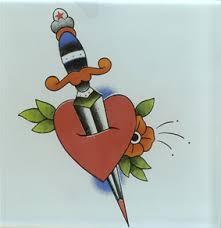 splendid heart and dagger tattoo design image tattoomagz