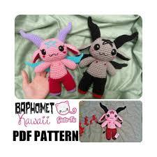 etsy crochet pattern amigurumi baphomet crochet pattern by gatofu on etsy crochet pinterest