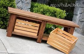 Diy Garden Storage Bench by Outdoor Furniture Storage Bench