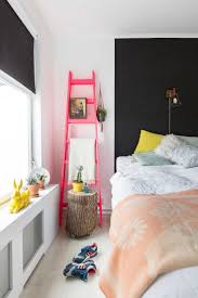 best 25 pink accents ideas on pinterest pink and grey rug neon pink ladder next to black headboard
