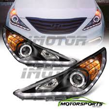 2011 hyundai sonata headlights for 2011 2012 2013 2014 hyundai sonata black led halo projector