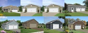 Residential Garage Plans Custom Garage Plans With Loft Storage And Apartment Space