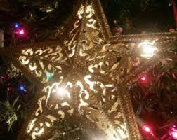 Star Christmas Tree Toppers Lighted - star tree topper etsy