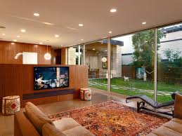 retractable home theater screen how to set up a media room hgtv