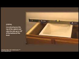 can you replace an undermount sink easy undermount sink installation youtube