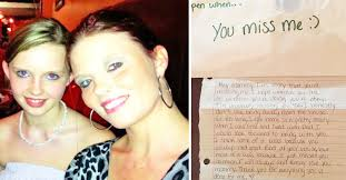 late daughter leaves behind letters to mourning mom