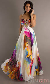 colorful dress dress formal colorful pattern prom dress