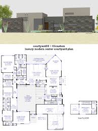 house floor plans with interior courtyard