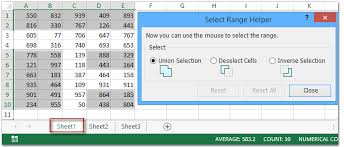 quickly select deselect and reverse multiple ranges in excel