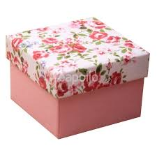 floral gift box pink base gift box with pink floral printed lid 5x5x3 cm