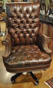 Leather Office Chair Leather Office Chair In Brown Tufted Embossed Croc Http Www