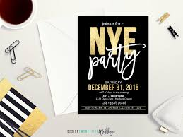 invitations for new years eve party new year u0027s eve party invitation 5x7 black u0026 gold