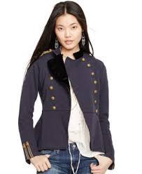 Denim And Supply Jacket Denim U0026 Supply Ralph Lauren Peplum Military Jacket Jackets