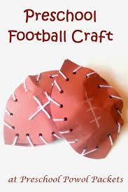football preschool craft crafts each day and football