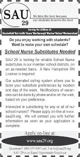 Upholstery Job Vacancies Nurse Substitutes Job In Keene Nh The Keene Sentinel