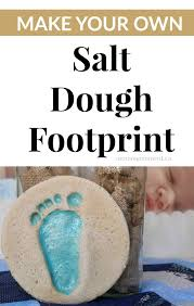 diy salt dough handprint moment