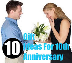 10 year wedding anniversary gift 10 gift ideas for 10th anniversary bash corner