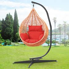 Outdoor Hammock With Stand Black Solid Steel C Frame Chair Hammock Stand Construction Porch