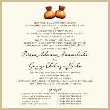 Sample Of Wedding Program Nigerian Wedding Invitation Wording Yaseen For