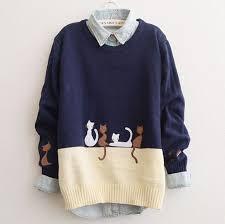 cat sweater japanese harajuku cat sweater on storenvy