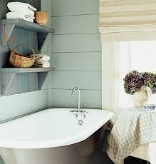 cozy bathroom ideas a cool blue color scheme makes this small bathroom an instant
