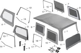 jeep wrangler jk soft top window parts 4 door quadratec